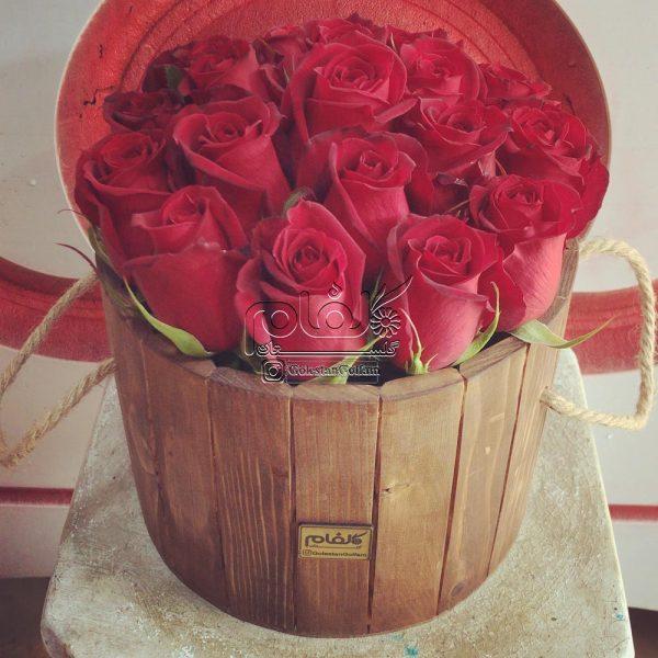 باکس گل چوبی گرد