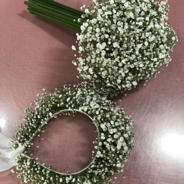 دسته گل و تاج سر عروس