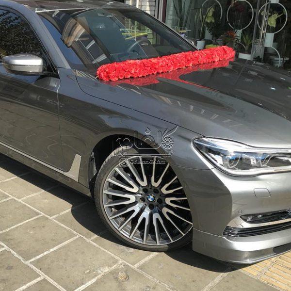 ماشین عروس گل رز قرمز